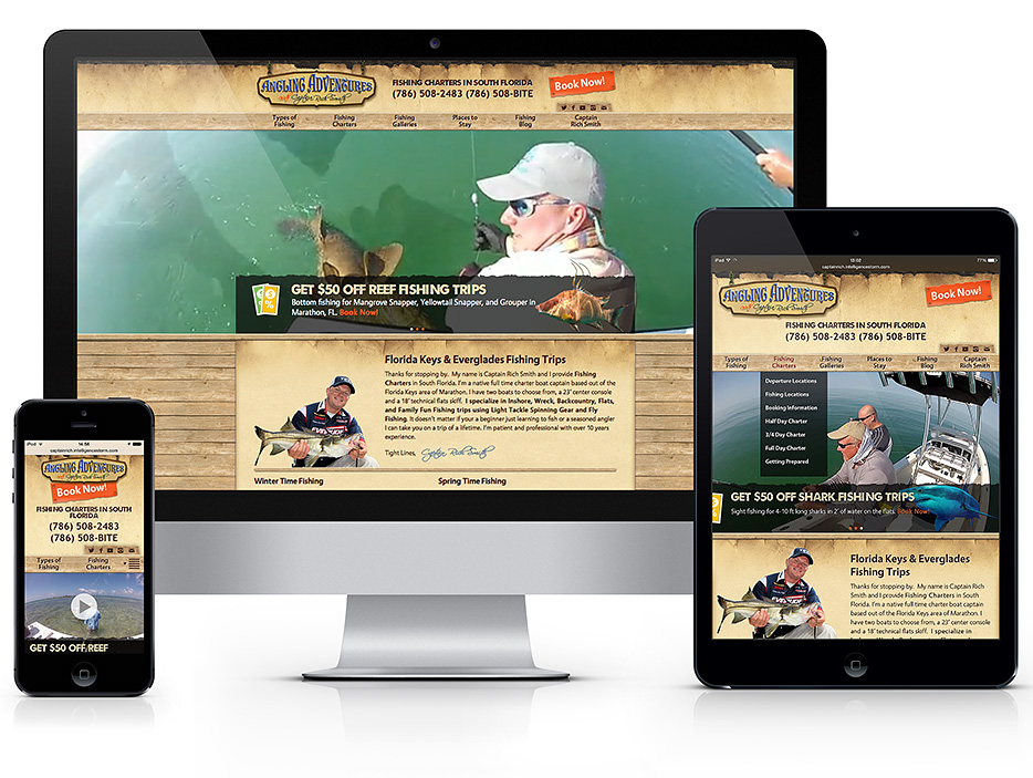 WordPress website for Fishing Charter Captains in Fort Lauderdale ...