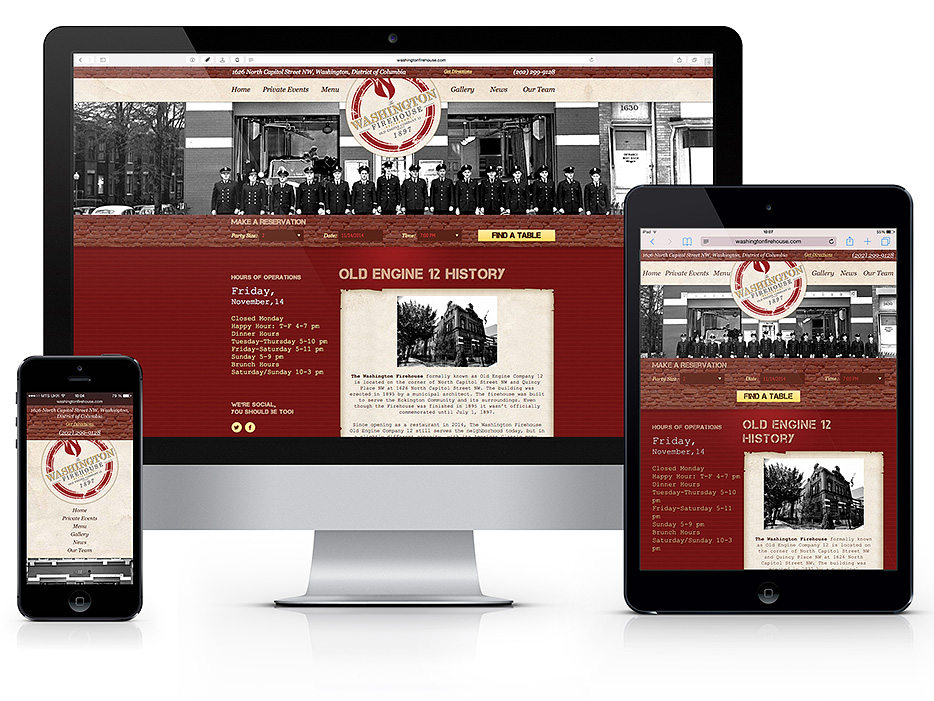 Responsive layout design, slicing into HTML5/CSS3, mobile optimized website development for restaurant